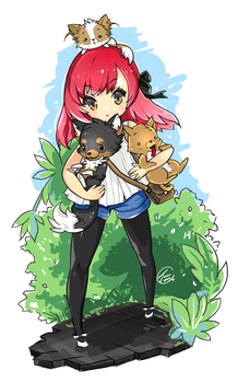 Me and my dogs by JinkiMania