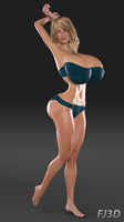 Hayley Origins - Age 22 - Swimsuit Model! by FarmerJohn3d