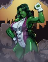 -She-Hulk- colors by Dualmask