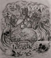 Apocalyptic Half Sleeve Tattoo Design (Com) by 814CK5T4R