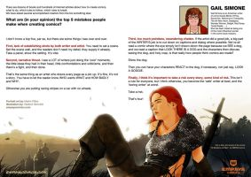 Top 5 mistakes when creating comics: Gail Simone by EMPAYAcomics