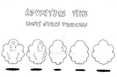 Lumpy Space Princess Model Sheet Turn-around by Nes44Nes
