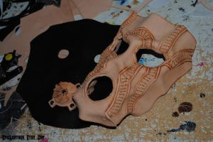 WIP Leather Psychotic Mask by Epic-Leather