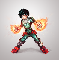 midoriya izuku[Fan Art] by TwoGamerZ