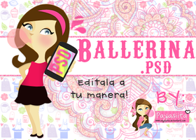 Girl Ballerina .PSD by Payasiita