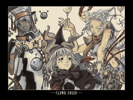 [Houshin Engi/ori] Clown Posse by kunika