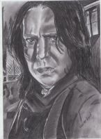 Severus Snape Alan Rickman Drawing by MelieseReidMusic