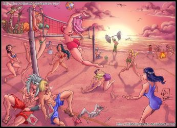 Volley Battle: One Piece vs Naruto by diabolumberto