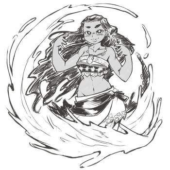 Moana Sketch by DragoonTequila