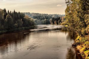 Evening by Gauja river by IronCrusader