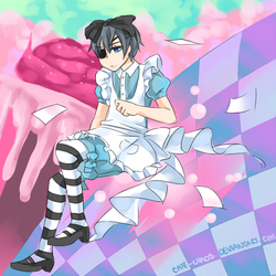 Ciel in Wonderland by Cafe-Chaos