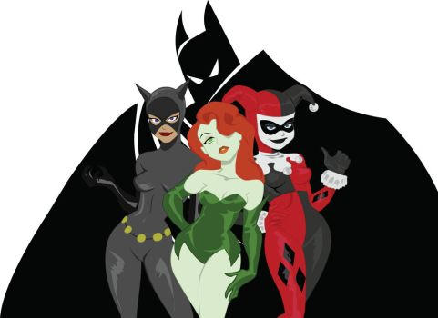 the women of Gotham (tribute to Bruce Timm) by crost92