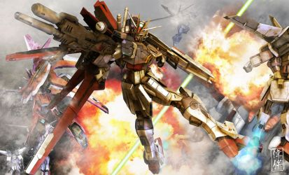 Force Impulse Gundam: Teamwork by sandrum