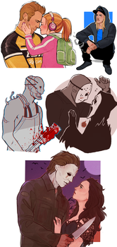 Horror Doodles 2 by vampiriism