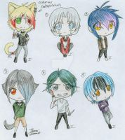 Chibi Emo Boys 4-CLOSED by itsmar-Adopts