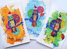 Holiday Cards by TooMuchColor