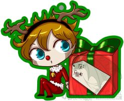 Christmas Tag Boy by kuroitenshi13