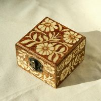 Beautiful wooden floral Art Nouveau pyrography box by YANKA-arts-n-crafts