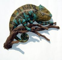 Chameleon Sculpture by thebiscuitboy