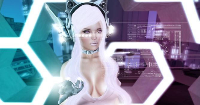 Cyberdoll ( Second Life ) by xBlondinchenx2009