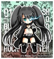 Chibi Miku - BlackRock Shooter by Ninamo-chan