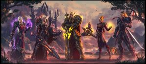 Blood Elf Family Portrait by draken4o