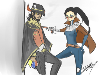 Request - TF and Vayne by Yama-San