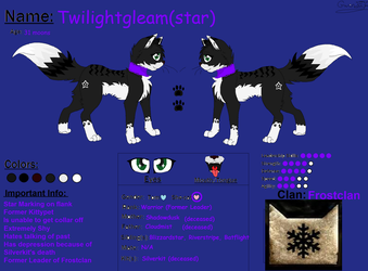 [Warriors] Twilightgleam (star) Reference Sheet by XoXAshleys-ArtXoX
