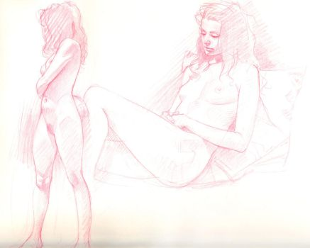 Life Drawing 3 by DylanTeague