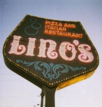 Lino's Pizza sign, which is older than me by silkycat