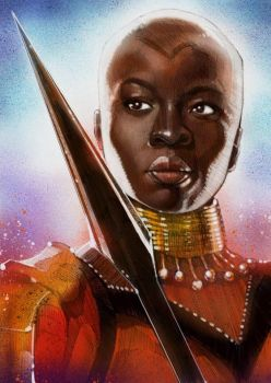 Okoye Portrait Painting by wallacedestiny
