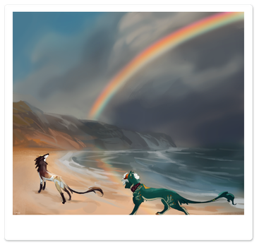 Storms and Rainbows by Kipine