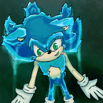Ice  Super Sonic -redraw -so cool .... by Jazz-M-Ink