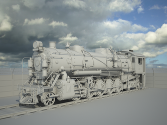 Steam Locomotive Model by llMarcos