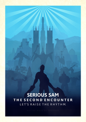 Serious Sam TSE Minimalistic Poster by FreekNik