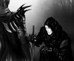 Sauron and Black Hand by dead01