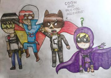 The Coon and Friends plus Mysterion by araignee-du-soir