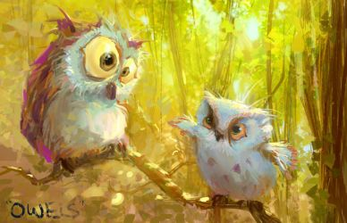 Owls by MarcoBucci