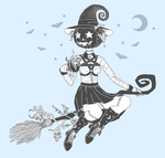 Pumpkin Head Witch 3 lines s by King-Lulu-Deer