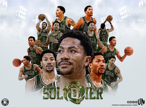 Derrick Rose Soldier 3840x2400 Wallpaper VN Design by vndesign
