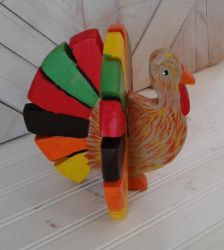 Colorful Standing Turkey by sweetpie2