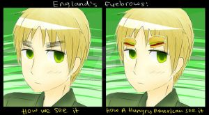 Request: England's eyebrows by MaeMe96