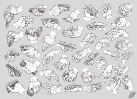Hand Studies: Male hands 3 (Robotized) by HIRVIOS