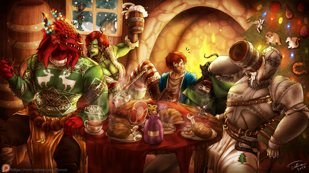 Our DnD Christmas by Tatara94
