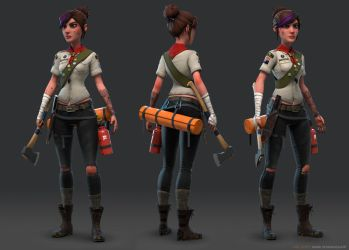 Girl Scout Patrol Leader by mavhn