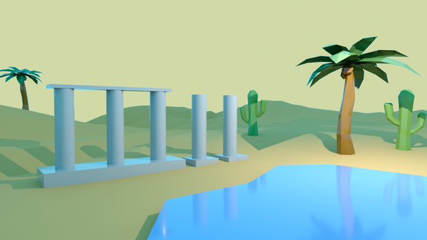 Palms and Cactus by aurahit