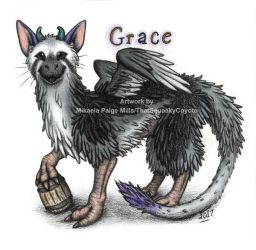 Grace the Trico full-body feral badge 2017 by ThatSqueakyCoyote