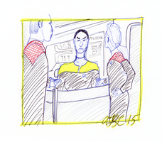 Tuvok, Janeway and Chakotay on the Bridge by AdamTSC