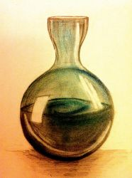 Pencil and Pastel Flask by KateHodges