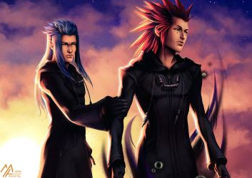 kh: Axel and Saix by MathiaArkoniel